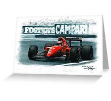 1992 Ferrari F92A Greeting Card
