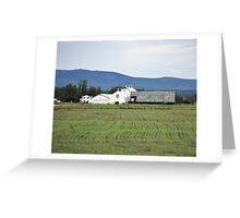 Dairy Farm in Fairbanks, Alaska Greeting Card
