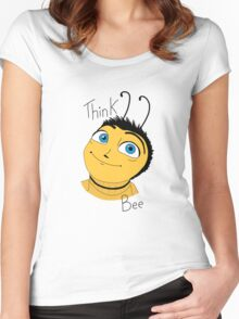 Bee movie think bee Women's Fitted Scoop T-Shirt