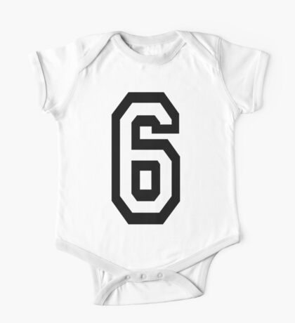 6, TEAM, SPORTS, NUMBER 6, SIX, SIXTH, Competition One Piece - Short Sleeve