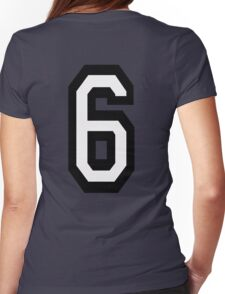 6, TEAM, SPORTS, NUMBER 6, SIX, SIXTH, Competition Womens Fitted T-Shirt