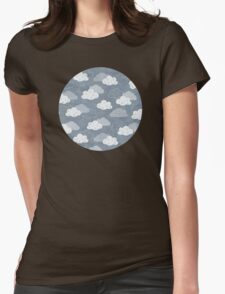 Rain Clouds Womens Fitted T-Shirt
