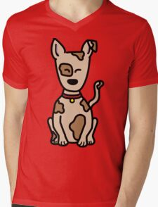 Puppy Mens V-Neck T-Shirt