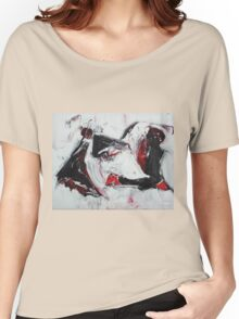 Creme Brulee with Metal- Original Oil  painting on Canvas Women's Relaxed Fit T-Shirt