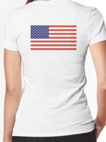 American Flag, Stars & Stripes, Pure & simple, United States of America, USA Women's Fitted V-Neck T-Shirt