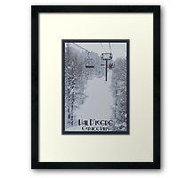 Val d'Isere Chairlift Framed Print