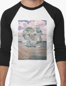 Ocean Scape Men's Baseball ¾ T-Shirt