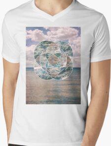 Ocean Scape Mens V-Neck T-Shirt