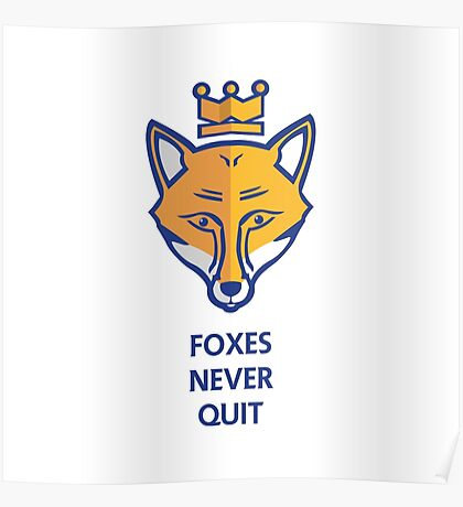 FOXES NEVER QUIT  Poster