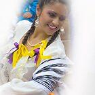 Dancer In The Pase Del Nino Parade by Al Bourassa
