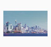 Sydney City CBD Vaporwave Landscape One Piece - Long Sleeve