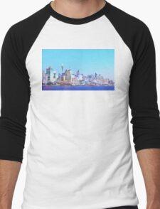Sydney City CBD Vaporwave Landscape Men's Baseball ¾ T-Shirt