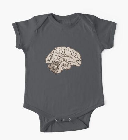hemisected brain One Piece - Short Sleeve