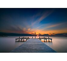 Sunset over Barnegat Bay Photographic Print