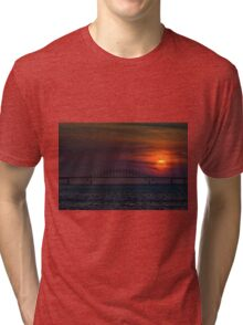 Sunset over Robert Moses Causeway Tri-blend T-Shirt