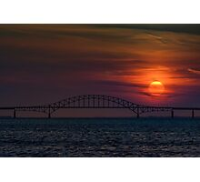 Sunset over Robert Moses Causeway Photographic Print