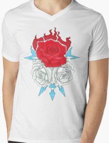 Ice Flowers Mens V-Neck T-Shirt