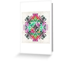 Bright Pattern Art - Color Fusion Design 9 By Sharon Cummings Greeting Card