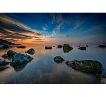 Sunset on Long Island Sound Photographic Print