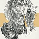Saluki Father & Son by BarbBarcikKeith