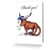 Longhorned Grad (Thank You Card) Greeting Card
