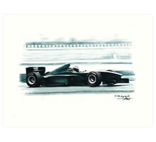 1998 Ferrari F300 test Fiorano Art Print