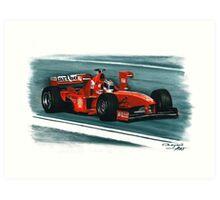 1998 Ferrari F300  Art Print