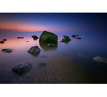 Night Falls on Long Island Sound Photographic Print
