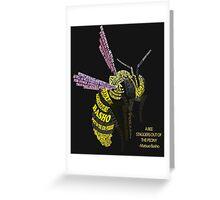 Bee basho typography Greeting Card