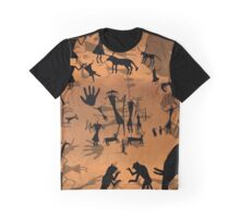 ancient cave drawings in libya  Graphic T-Shirt
