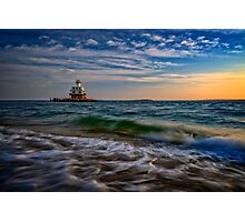 Long Beach Bar Lighthouse Photographic Print