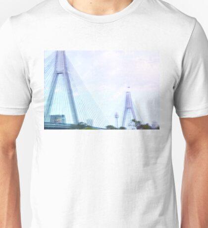 Sydney Anzac Bridge Vaporwave Landscape Unisex T-Shirt