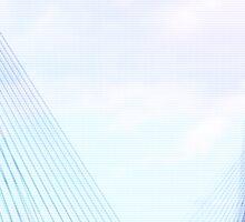Sydney Anzac Bridge Vaporwave Landscape Sticker