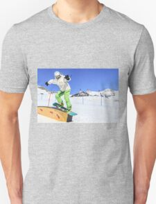 Snowboarding, Photographed in Breuil-Cervinia, Italy Unisex T-Shirt