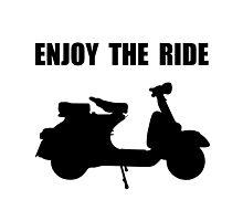 Enjoy Ride Moped Photographic Print