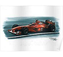 2000 Ferrari F1-2000 Poster