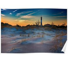 Sunset on Fire Island Poster