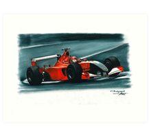 2001 Ferrari F2001 Italian GP Art Print