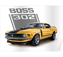 Ford Mustang,Classic Cars,American Muscle Cars Poster