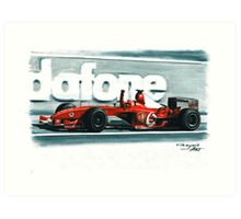 2003 Ferrari F2003-GA Art Print