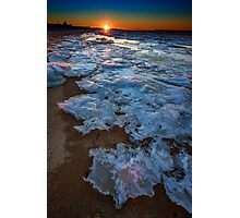 Winter Sunset on Fire Island Photographic Print