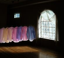Shirts in a Room of Darkness and Light by Wayne King