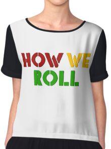 Reggae Weed Rasta Marijuana Cool T-Shirts Chiffon Top