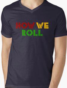 Reggae Weed Rasta Marijuana Cool T-Shirts Mens V-Neck T-Shirt