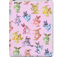 Easter bunny dancing. iPad Case/Skin