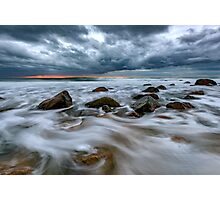 Late Autumn Storm At Montauk Point Photographic Print