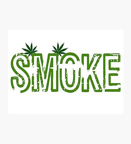 Smoke Weed Marijuana Grass Bob Marley Rasta T-Shirts Photographic Print