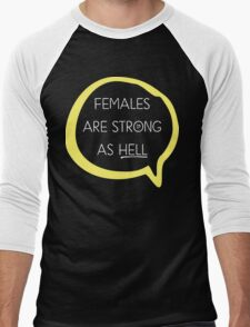 Kimmy Schmidt - Females are Strong as Hell Men's Baseball ¾ T-Shirt