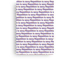 Repetition Is Sexy - typography poster Canvas Print