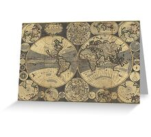 World Map (1702) Greeting Card